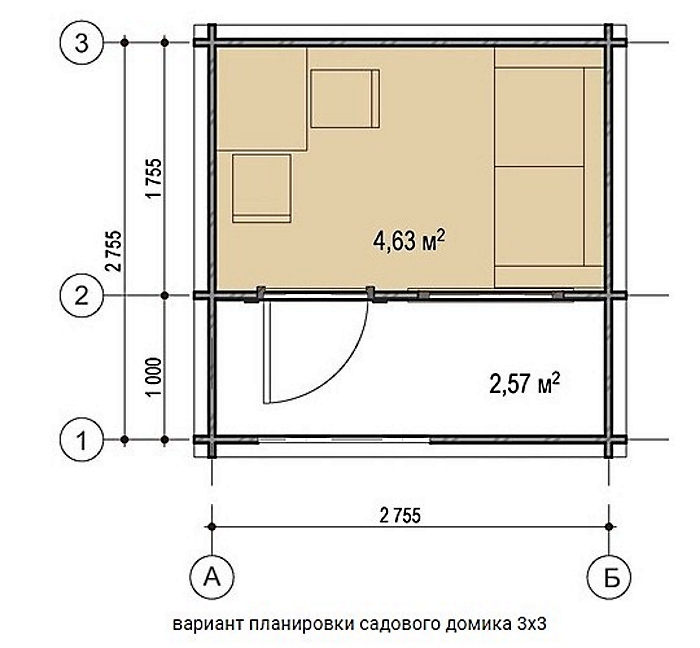 садовый домик 3х3