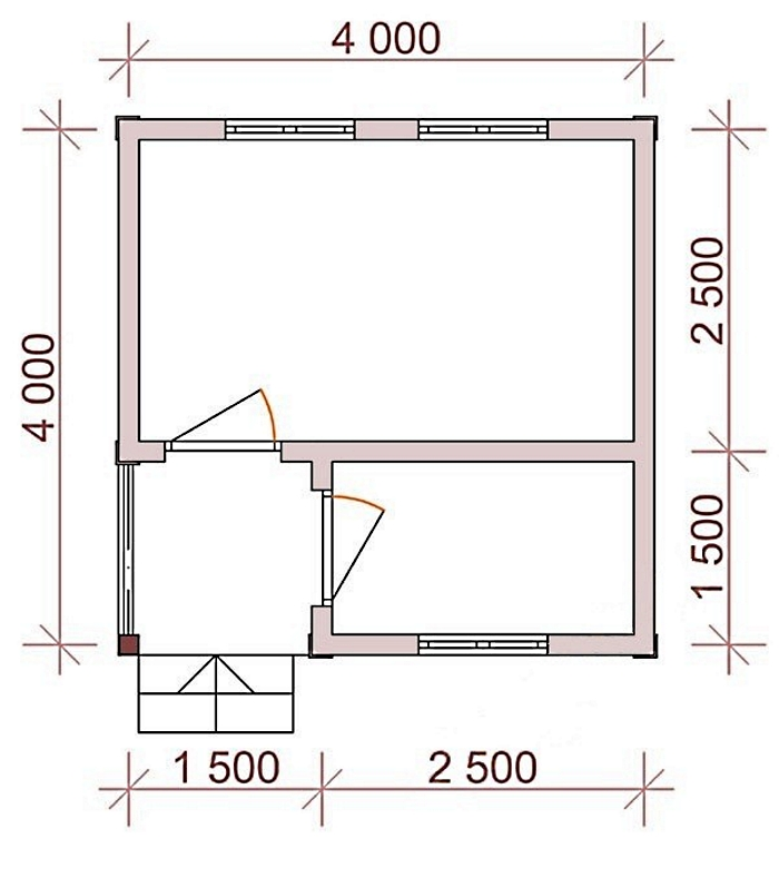Проект домика 4х4
