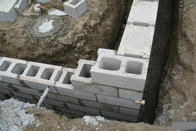 фундамент под шлакоблочный дом