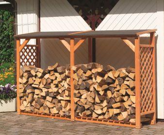 очень популярны деревянные дровницы - их можно купить уже готовыми или сделать самостоятельно