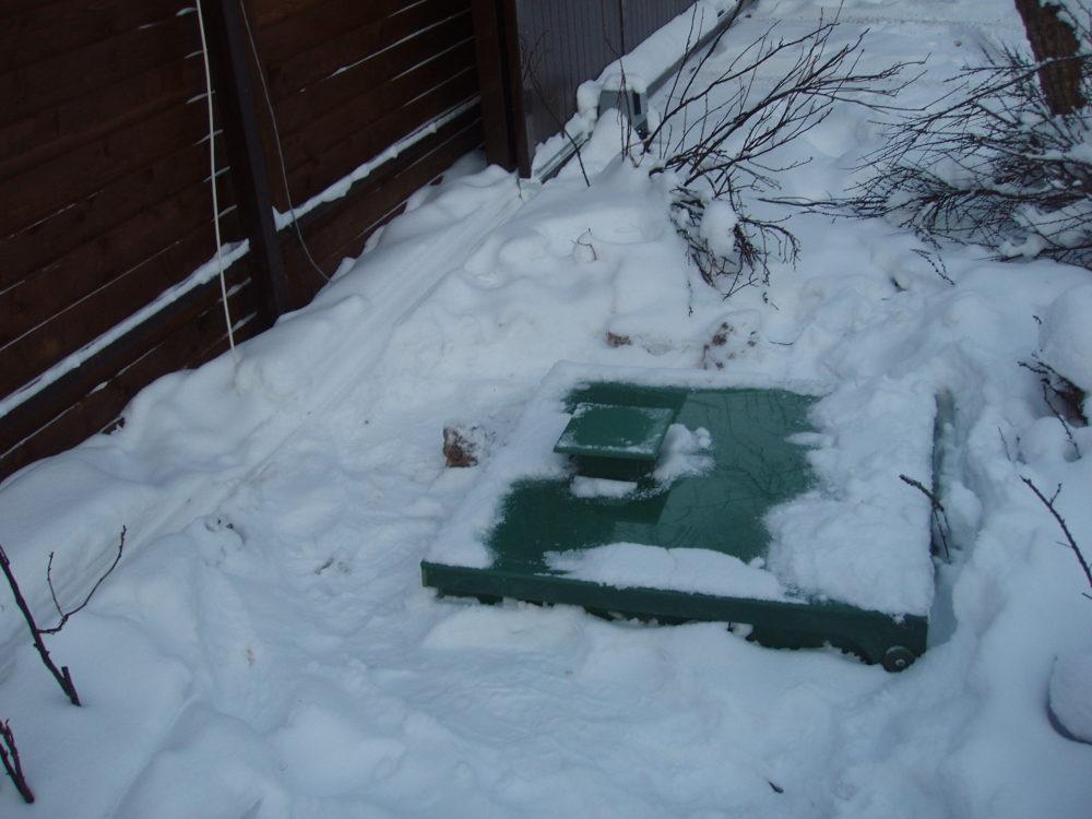 Канализация зимой на даче