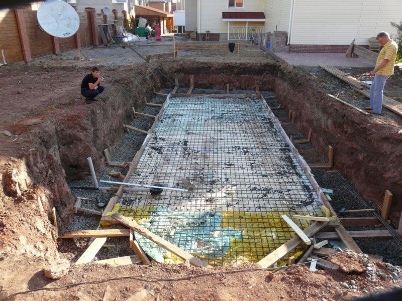 установка бетонного бассейна