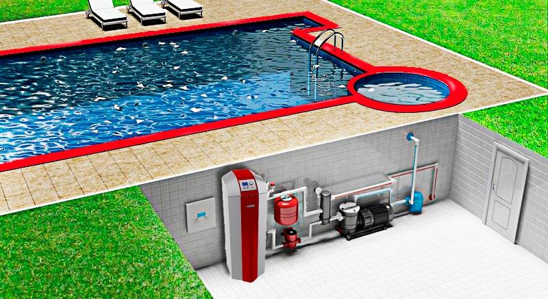 Система теплового насоса для нагрева воды