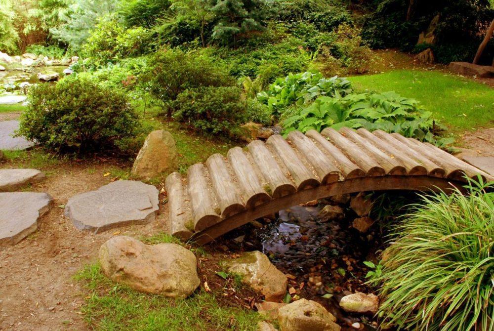 Декоративные мостики из дерева