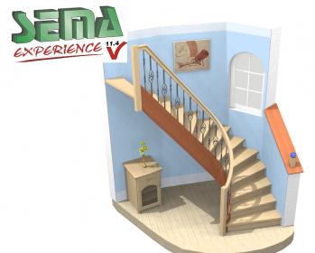 3D визуализация лестницы