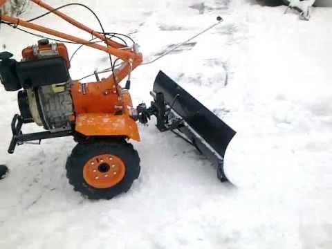 Как сделать отвал для снега к мотоблоку