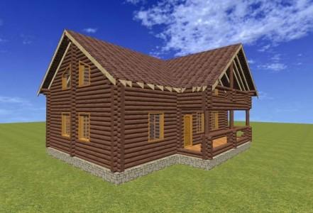 3d проект деревянного дома