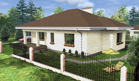 3d проект загородного дома