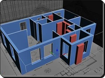 проект дома в программе 3DsMax