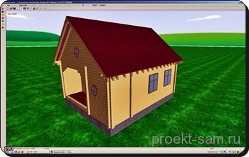простой 3d проект частного дома