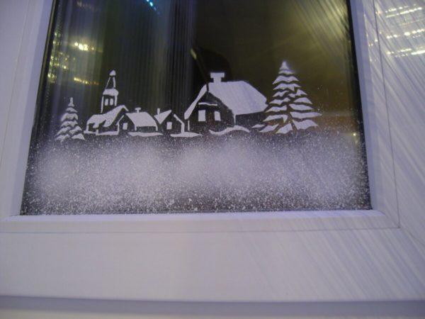 Узор на окне