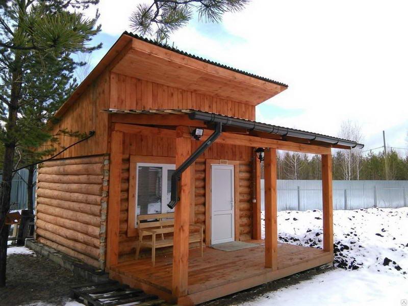 Односкатная крыша для сауны и беседки
