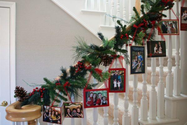 Оригинальное украшение лестницы