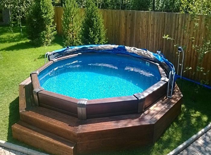 Каркасный тип бассейна