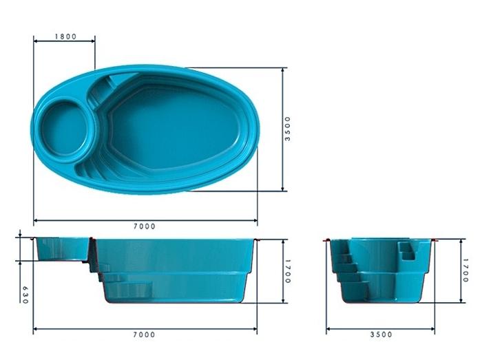 Уличные бассейны для дачи: каркасные, пластиковые, композитные и надувные