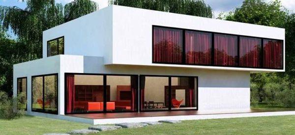 дом с плоской крышей