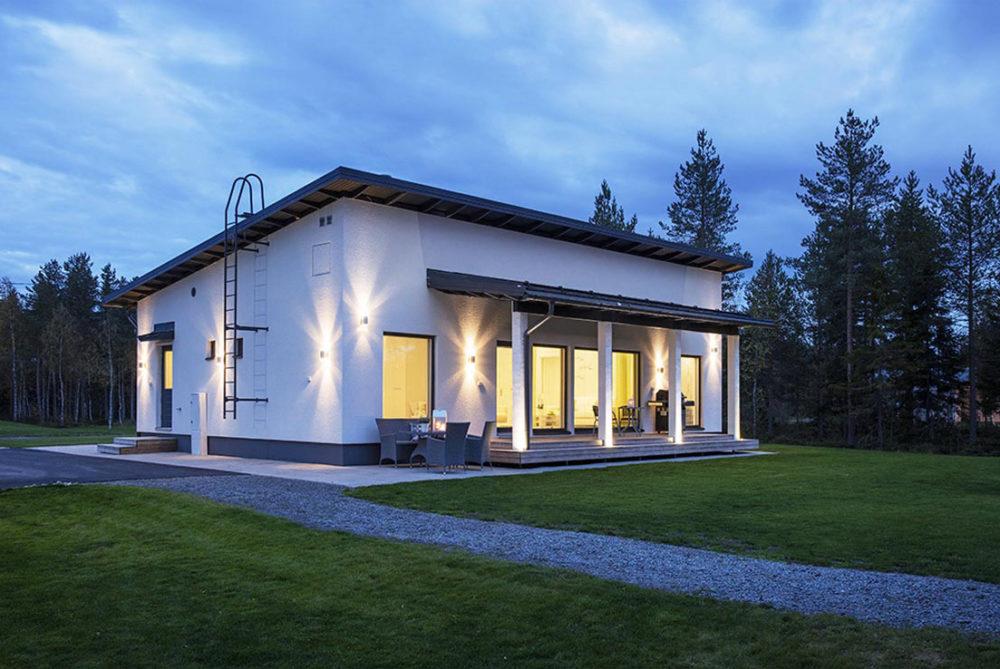 выглядит проект дома с односкатной крышей фото синдром ранней