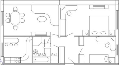 планировка квартиры в домах 75 серии