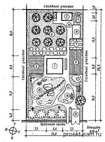 план дачного участка 8 соток