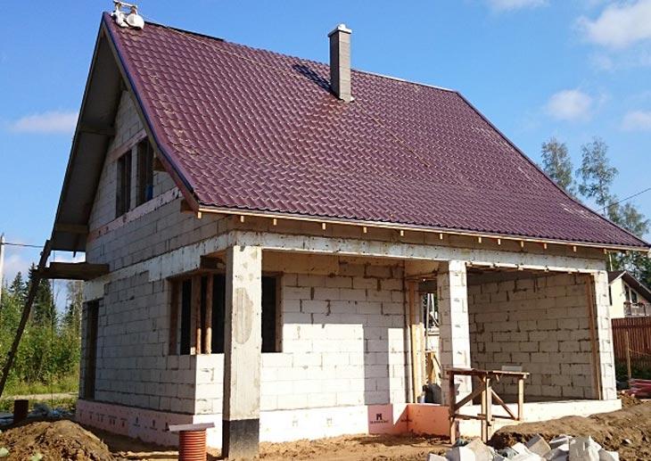 дом из силикатобетона