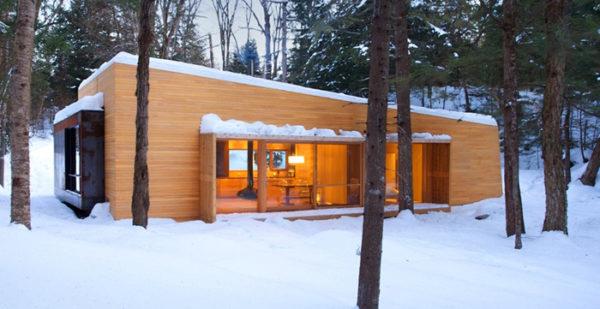 маленький зимний дом