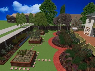 рабочее окно программы 3D Home Landscape Designer Deluxe