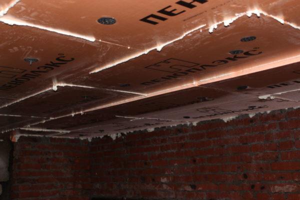 Пеноплэкс в подвале