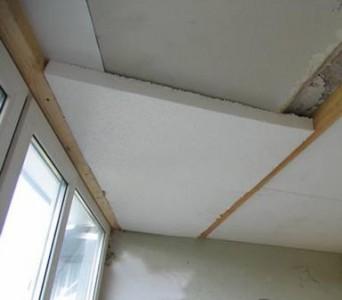 утепление потолка в деревянном доме пенопластом