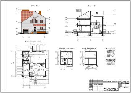 архитектурный чертеж дома