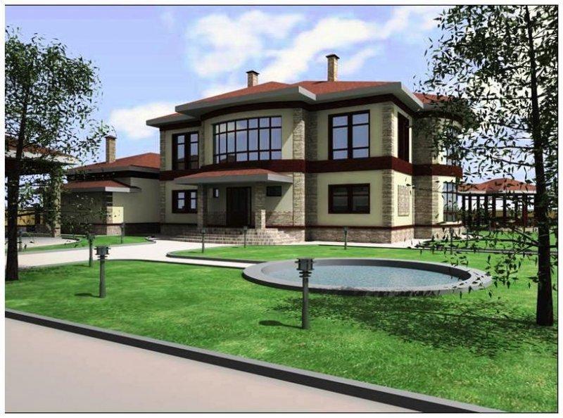 архитектурный проект дома в Подмосковье