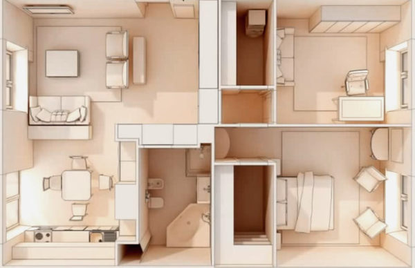 макет планировки квартиры