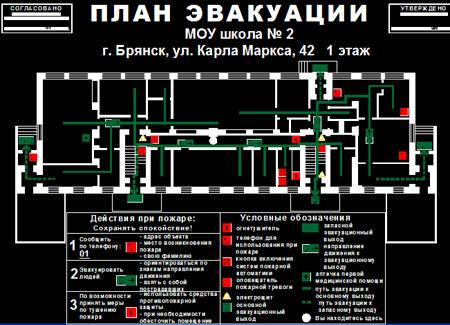 Autocad план эвакуации