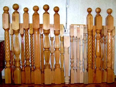 деревянные балясины для лестницы