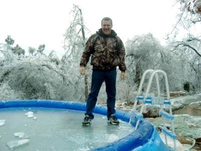 замерзший бассейн