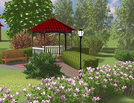 газон беседка наш сад