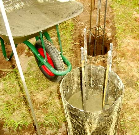 бетонирование свай фундамента
