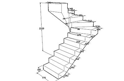чертеж лестницы в погреб
