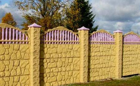 железобетонный забор