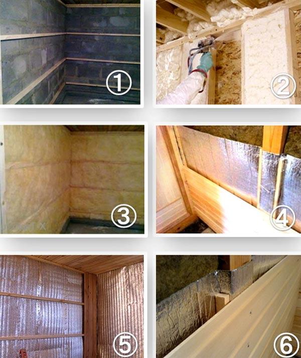 процесс утепления бани