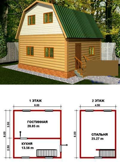 проект двухэтажной бытовки