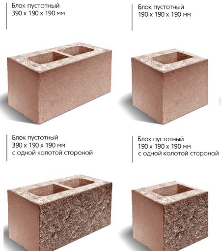 конструкция бетонных блоков