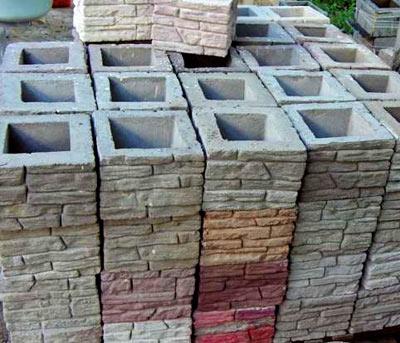 блоки для столбов