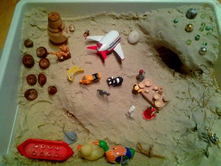 болото в песочнице