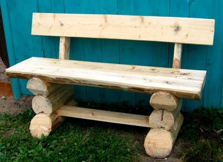скамейка из бруса
