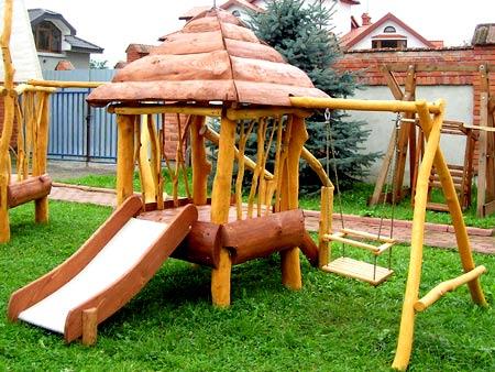 деревянная горка