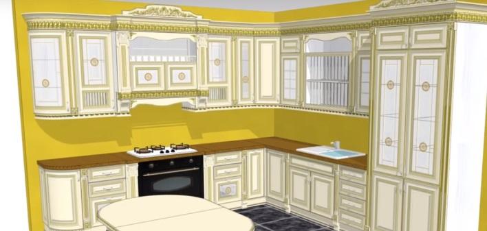 Цвет интерьера кухни в KitchenDrow