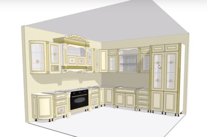 Режим в 2D и 3D в KitchenDrow