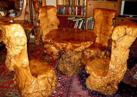 стул цельная древесина