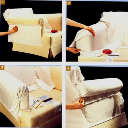 Чехлы на диван своими руками сшить