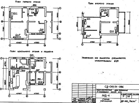 чертеж деревянный дом